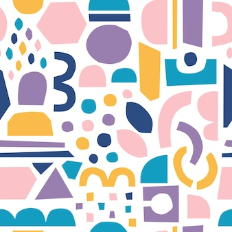 Peças de corte de papel vetorial recortes de papel abstratos da moda