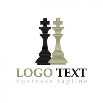 Peças de xadrez logotipo