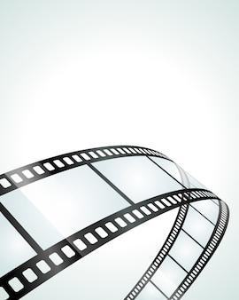 Pedaço de ilustração de filme de rolo transparente