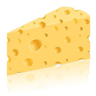 Pedaço de ilustração vetorial de queijo