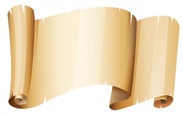 Pedaço de papel marrom