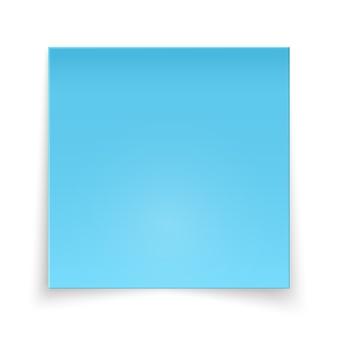 Pedaço pegajoso de papel azul