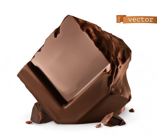 Pedaços de chocolate.