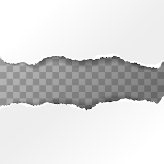 Pedaços de papel rasgado branco