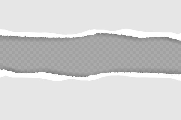Pedaços de papel rasgado com sombra suave.