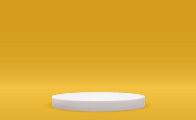Pedestal 3d realista sobre fundo vívido visor moderno de pódio vazio