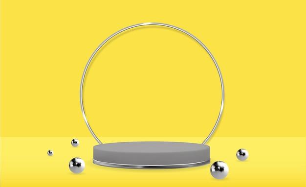 Pedestal 3d realista. visor moderno de pódio vazio
