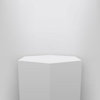 Pedestal do museu, palco, 3d fundo de apresentação do pódio