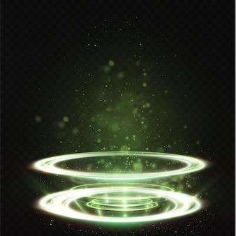 Pedestal do pódio da illuminat para premiações de publicidade apresentação de cerimônia de premiação ilumine o display