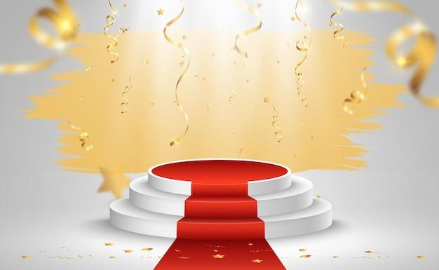 Pedestal ou plataforma para homenagear vencedores de prêmios