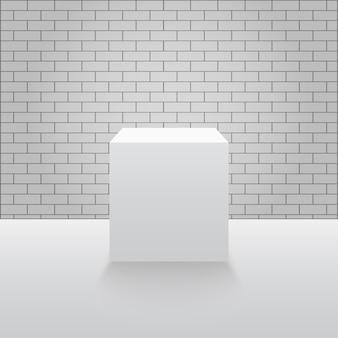Pedestal ou pódio do museu.