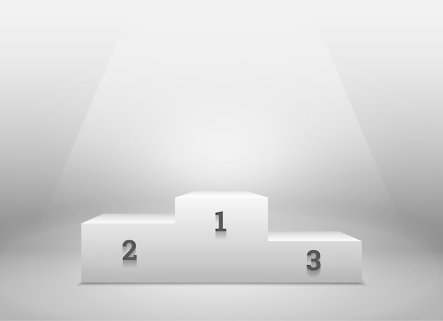 Pedestal para os vencedores
