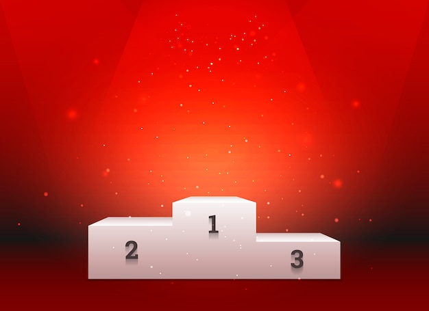 Pedestal vazio para os vencedores