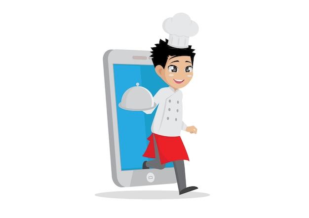 Pedir comida através do smartphone.