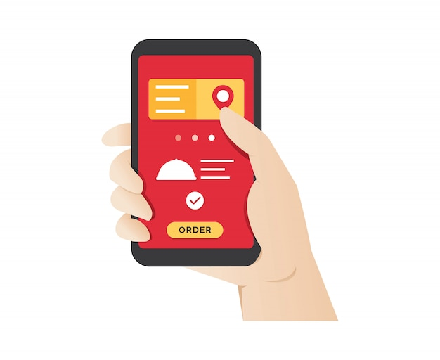 Pedir comida usando o aplicativo móvel online