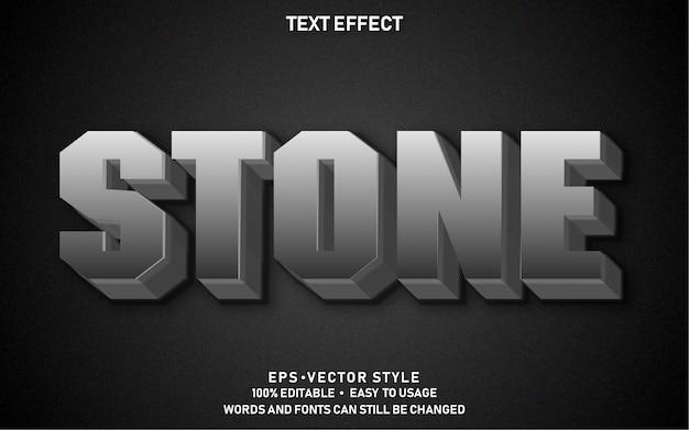 Pedra de efeito de texto editável