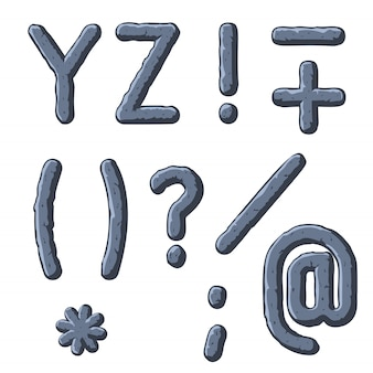 Pedra esculpida letras