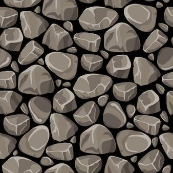 Pedra pedra sem costura padrão