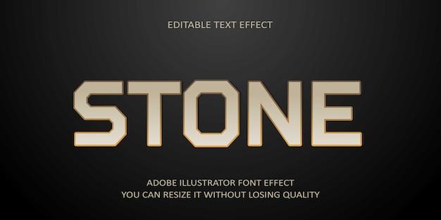 Pedra texto editável efeito de fonte