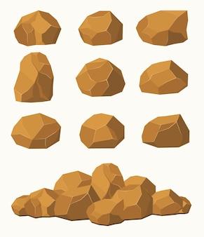 Pedras e rochas pedras marrons pedregulhos pedra rochas elementos de arquitetura e construção