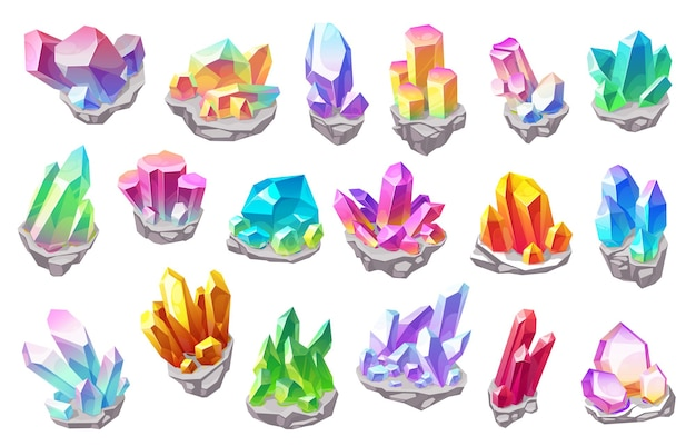 Pedras mágicas brilhantes