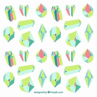 Pedras preciosas verdes fundo