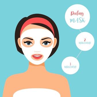 Peeling máscara para o tratamento da pele