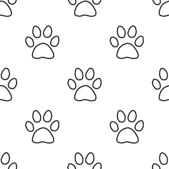 Pegada do gato, padrão sem emenda de vetor, editável pode ser usado para fundos de páginas da web, preenchimentos de padrão
