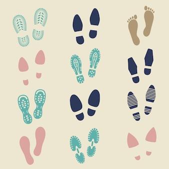 Pegadas coloridas