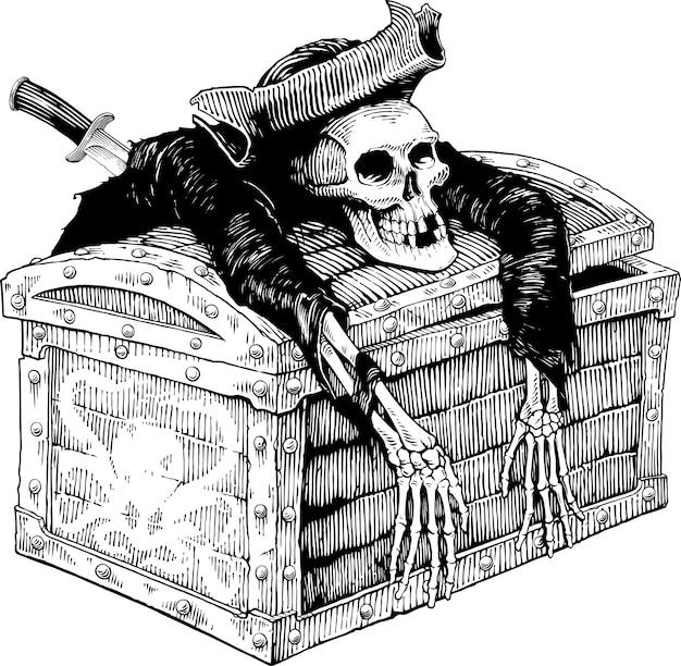 Peito do homem morto