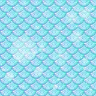 Peixe azul pastel escamas padrão sem emenda