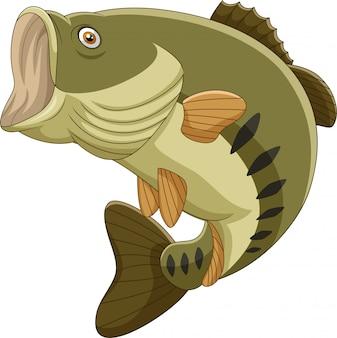 Peixe baixo dos desenhos animados isolado