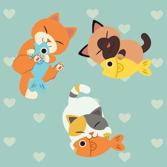 Peixe do amor do gato