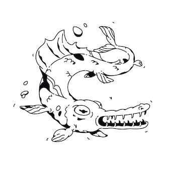 Peixe dos desenhos animados