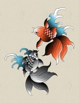 Peixe dourado japonês