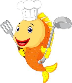 Peixe engraçado dos desenhos animados