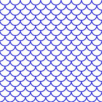 Peixe feminino padrão de escala. ilustração vetorial