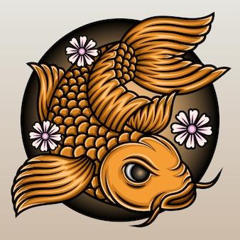 Peixe koi japonês.
