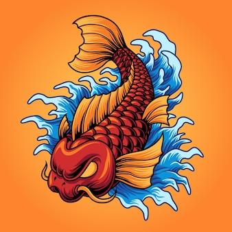 Peixe koi japonês