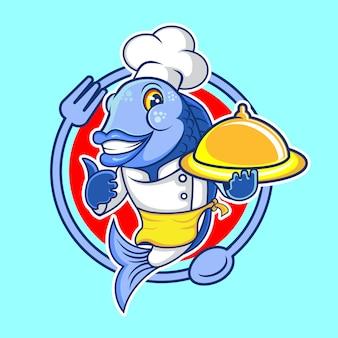 Peixe mestre frutos do mar