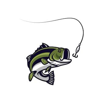 Peixe, vetorial, mascote, ícone, ilustração