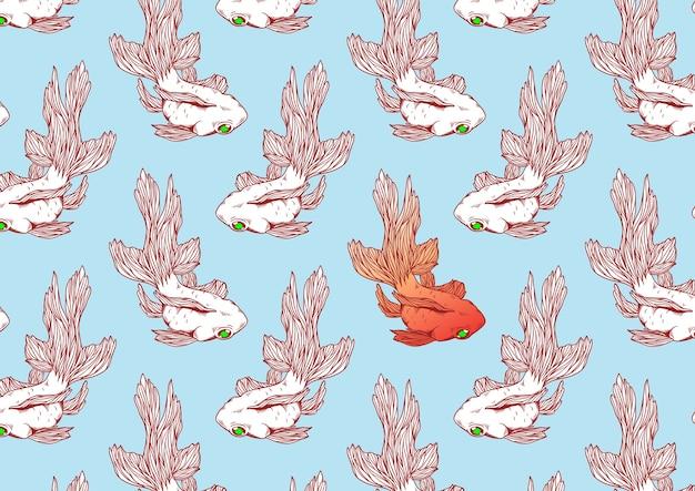Peixinho animal gráfico japão tradicional