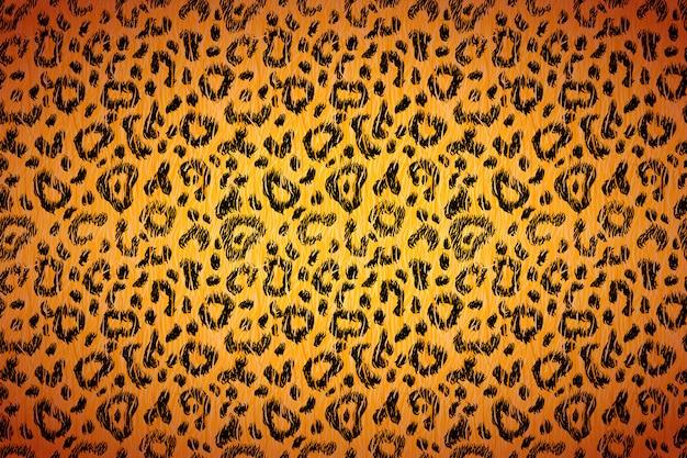 Pele de leopardo realista brilhante com manchas pretas