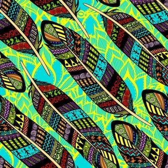 Penas decorativas coloridas