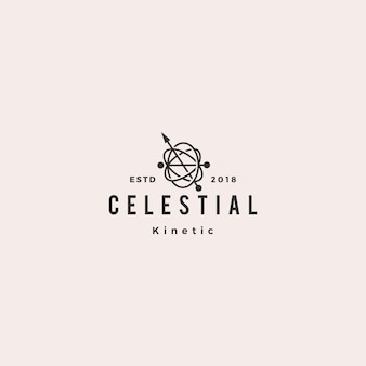 Pêndulo cinético orbital celestial logotipo hipster