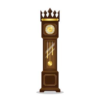 Pêndulo de relógio de madeira retrô