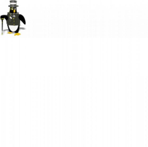 Penguin vestindo smoking