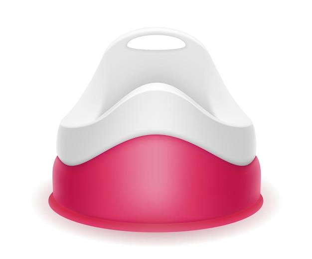 Penico infantil rosa em branco