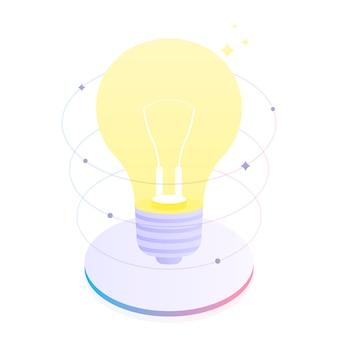 Pensamento criativo e debate de ideias, conte sobre a sua ideia. inovações de negócios. ilustração plana moderna