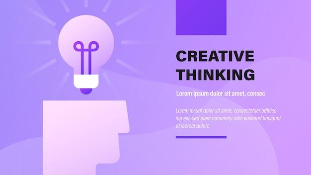 Pensamento criativo.